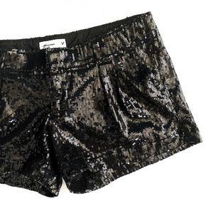 AEO Sexy Black Sequin Shorts • 0